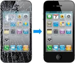 Iphone 4 4S Cracked / Broken Screen Lcd Digitizer (White Lcd Screen) Repair Replacement Service !!!