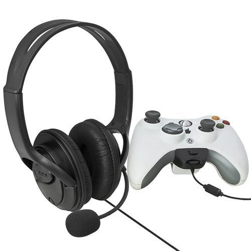 Sodial(R) Wireless Controller Headset With Microphone Compatible With Microsoft Xbox 360, Black