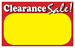 Amazon Com Retail Clearance Signs Template 5 5 Quot X3 5