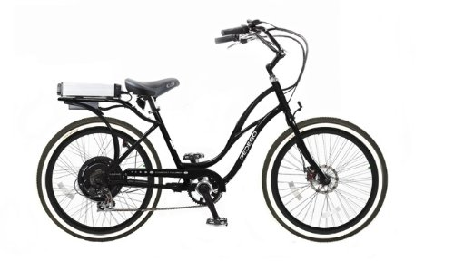 Pedego Step-Through Cruiser Black with Black Rims