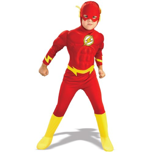 DC Comics The Flash Muscle Chest Deluxe Costume (Boy - Child Small 4-6)