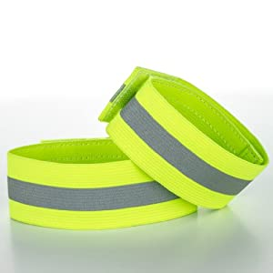 Road ID - High Visibility Reflective Ankle Bands (pair)