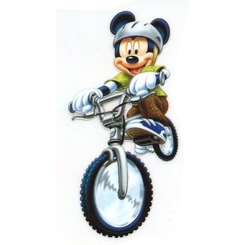 riding bike w helmet Disney Iron On Transfer for T-Shirt ~ dirt bike