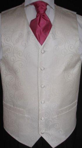 mens ivory swirl wedding waistcoat 40