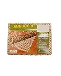 NaturalAreaRug Eco Hold Rug Pad Earth Friendly Provides Extra Cushion For All Hard Surfaces of size 2\' x 8. Heavier and Thicker than Most Rug Pads