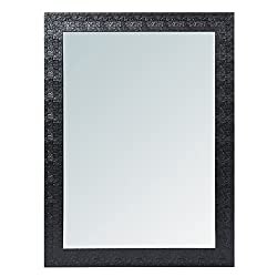 999Store fiber framed decorative wall mirror or bathroom mirror black (24x18 Inches)
