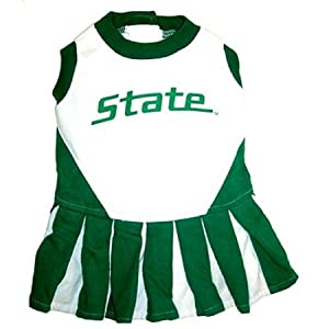 NCAA Dog Clothing - Michigan State Spartans Cheer Leading MD by Pets First