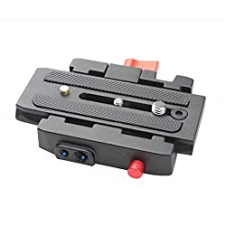 Magideal P200 Quick Release QR Plate for Manfrotto 501 500AH 701HDV 503HDV 7M1W 577