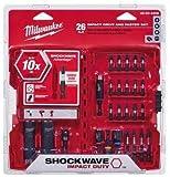 Milwaukee 48-32-4408 Shockwave Impact Duty Drive and Fasten Bit Set (26-Piece)