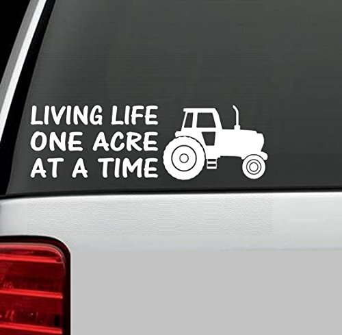 B1022 FARM TRACTOR LIFE DECAL STICKER for Car Truck SUV Van LAPTOP SUV BOAT TRAILER Barn Wall Art (Farm Window Decal compare prices)
