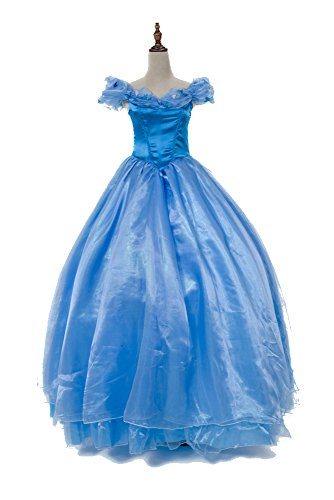NonEcho Deluxe Cruise Costume Cinderella Dress Halloween Costume Adult
