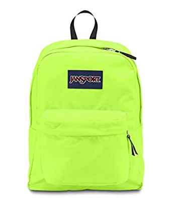 JANSPORT SUPERBREAK BACKPACK SCHOOL BAG - Fluorescent Green- 9RY