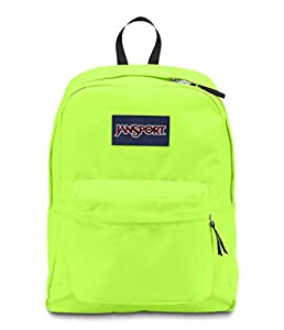 JANSPORT SUPERBREAK BACKPACK SCHOOL BAG - Fluorescent Green- 9RY