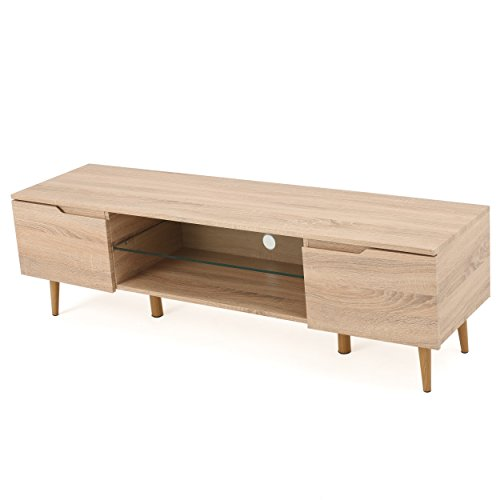 Reginald Mid Century Modern TV Stand (Natural Finish) (Mid Century Tv Stand compare prices)