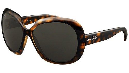 Ray Ban Women's Rb4098 Jackie Ohh Ii Tortoise Frame/Grey Lens Plastic Sunglasses