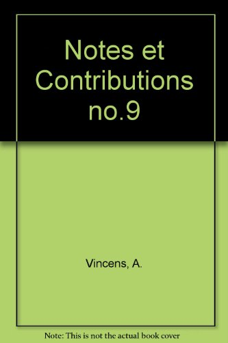 notes-et-contributions-no9