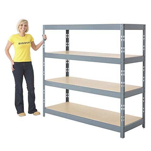 garage-shelving-4-level-heavy-duty-grey-racking-1600h-x-1600w-x-600d-mm-350kg-udl-home-storage-by-bi