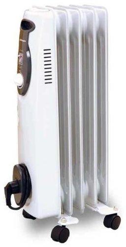 Pequeño radiador eléctrico de 5 elementos y 1000W