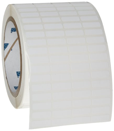 "Brady THT-1-488-10 0.75"" Width x 0.25"" Height, B-488 High Performance Polyester, Matte Finish White Thermal Transfer Printable Label (10000 per Roll)"