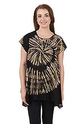 Mojeska Women's Cotton Top (TY027_Black_One Size Fits All)