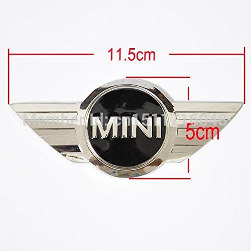 Tripoint® Badge Logo Front bonnet Hood metal sticker Rear Trunk Emblem Wings 11.5cm For Mini Cooper (Mini Hood Emblem compare prices)