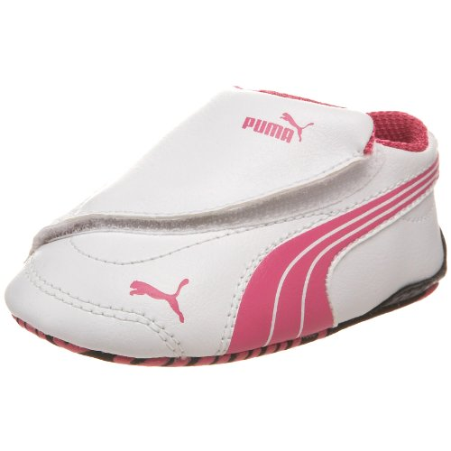 PUMA Drift Cat III L Lw Crib Shoe (Infant/Toddler),White/Shocking Pink/White,3 M US Infant