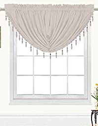 RT Designers Collection Kennedy Swag Valance, Silver