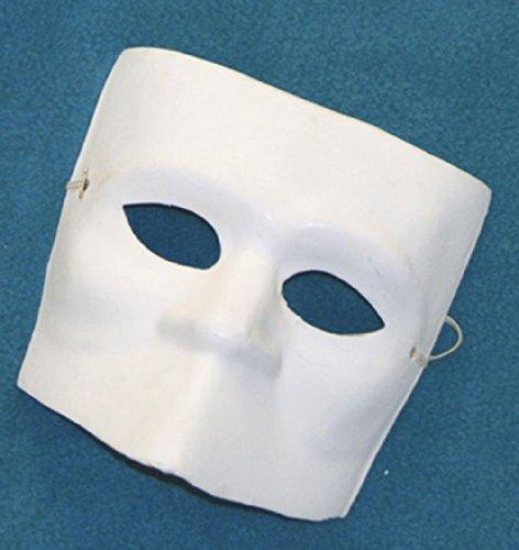 B80352 Unpainted Paper Mache Mardi Gras El Medico