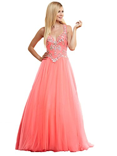 Mac Duggal'S Latest Ballgowns Spring Collection Women'S Dress, Neon Coral, Size 0