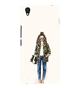 EPICCASE Cool girl Mobile Back Case Cover For OnePlus X (Designer Case)