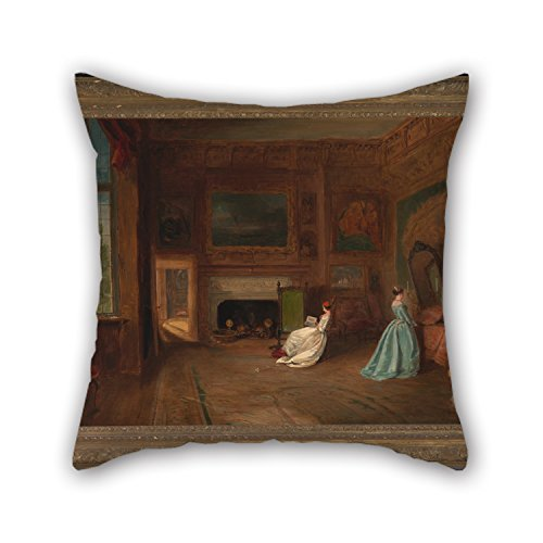 Artistdecor Cushion Covers 18 X 18 Inches / 45 By 45 Cm(twice Sides) Nice Choice For Gril Friend,car Seat,boy Friend,her,car,family Oil Painting James Holland - The Lady Betty Germain Bedroom At Kno (Germain Toyota compare prices)