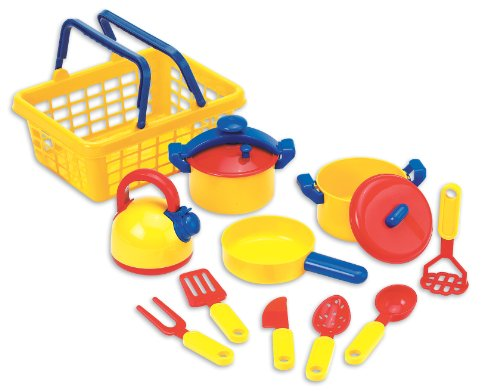 Toy Pots And Pans : Pretend play dishes pots and pans kitchen toys set