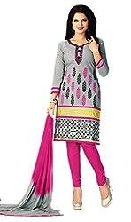 Aarvi Women's Cotton Unstiched Dress Material Multicolor -CV00114