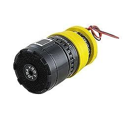 L-818 60Hz-16KHz 600 Ohm Replacement Dynamic Microphone Mic Cartridge Yellow Black