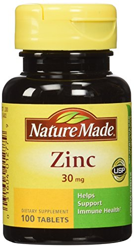 Nature Made Zinc 30 mg, 100 Tablets