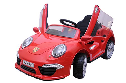 Happy Kids Shildot Battery Operated Ride-On Car with Remote Control and LCD TV (Red)