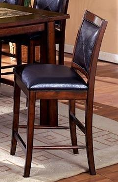 Berna Tobacco Oak Finish Counter-Height Dining Chairs (Set of 2)
