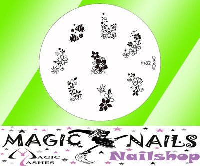 Magic Items Konad Stamping Schablone M82 Nailart Neu