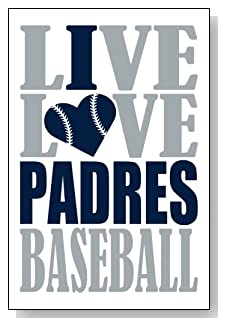 Live Love I Heart Padres Baseball lined journal - any occasion gift idea for San Diego Padres fans from WriteDrawDesign.com