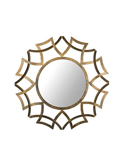 Safavieh Inca Sunburst Mirror, Antique Gold