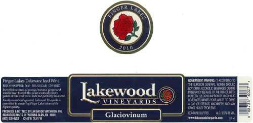 2010 Lakewood Vineyards Glaciovinum 375 Ml