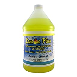 Lemon Plus extra sudsy liquid dishwash concentrated detergent. - 1 gallon