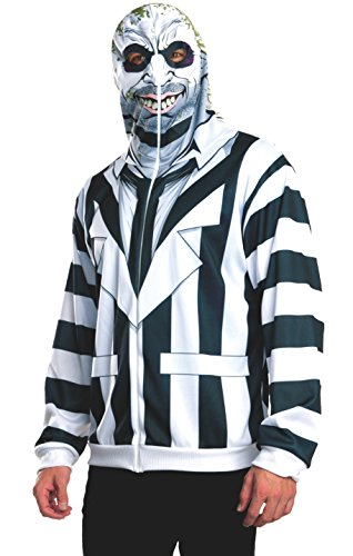 Rubie's Costume Men's Beetlejuice Adult Costume Hoodie - S, M or XL