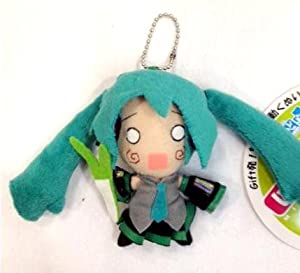 "Miku Hatsune Keychain Plush 4.5"" - White Eyes"