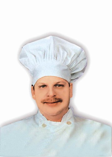 Forum Novelties Men's Novelty Chef Hat, White, One Size - 1