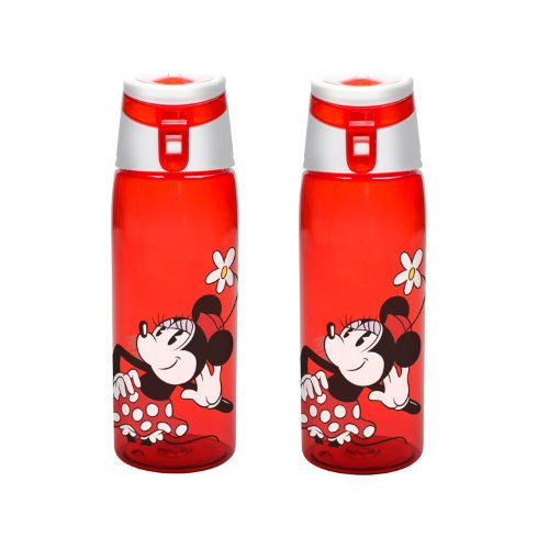 Zak Designs Minnie Mouse Tritan Bottle, 25-Ounce, 2-Pack front-744034
