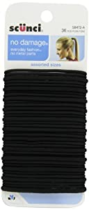 Scunci Effortless Beauty Large No-damage Elastics, 2 Mm/ 4 Mm