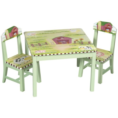 Best Prices Kids Table and Chair Set Little Farm House