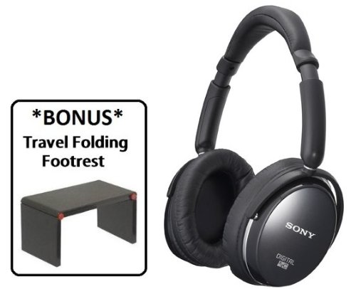 Sony MDR-NC500D Digital Noise Canceling Headphone with *BONUS* Travel Folding Footrest