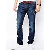 エイソス Diesel Jeans Thavar 821T Slim Fit Dark Wash Destroy 並行輸入品